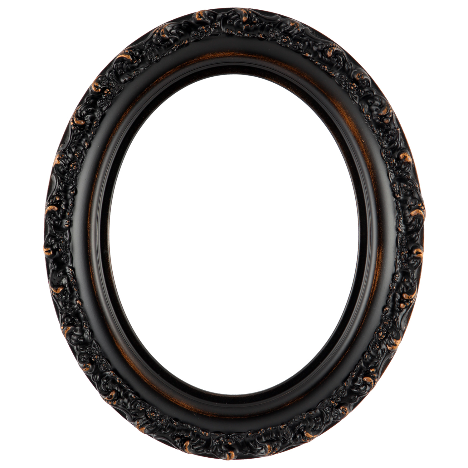 #454 Rubbed Bronze Oval Picture Frame